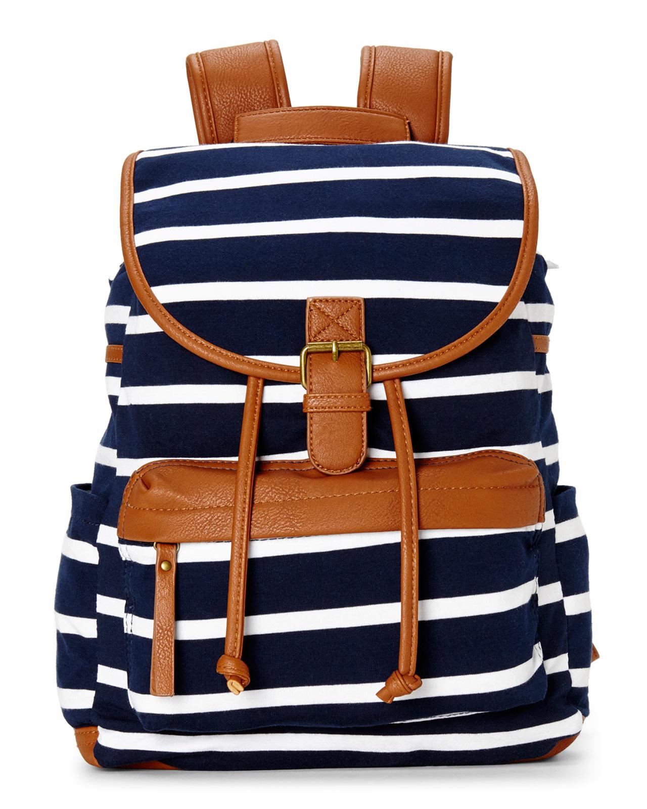 Madden girl Navy & White B Benji Backpack in Blue   Lyst
