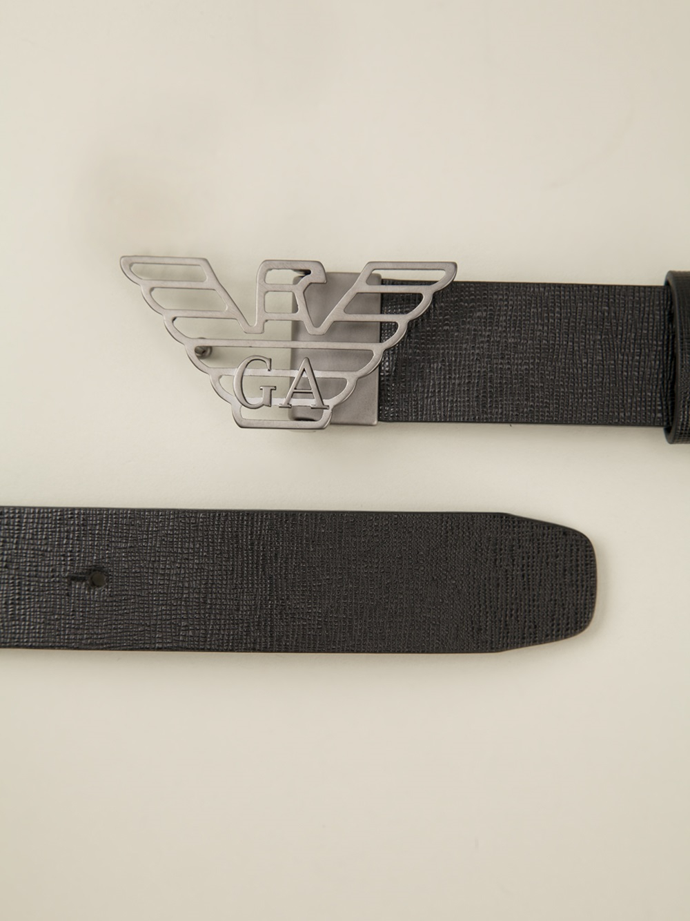Lyst - Emporio Armani Logo Belt in Black for Men