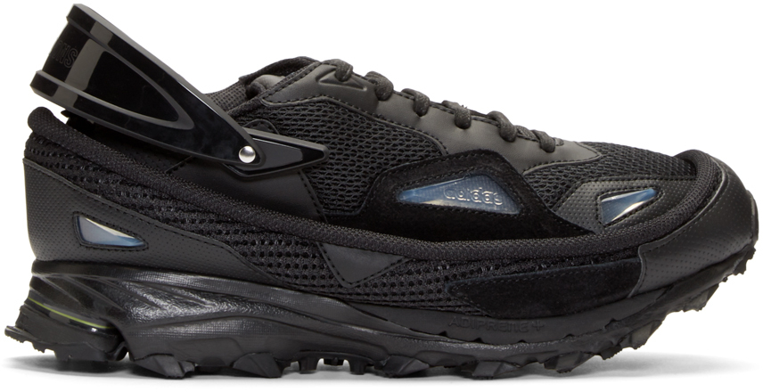 8760372dbc87 Lyst - Raf Simons Black Adidas By Response Trail Sneakers in Black ...