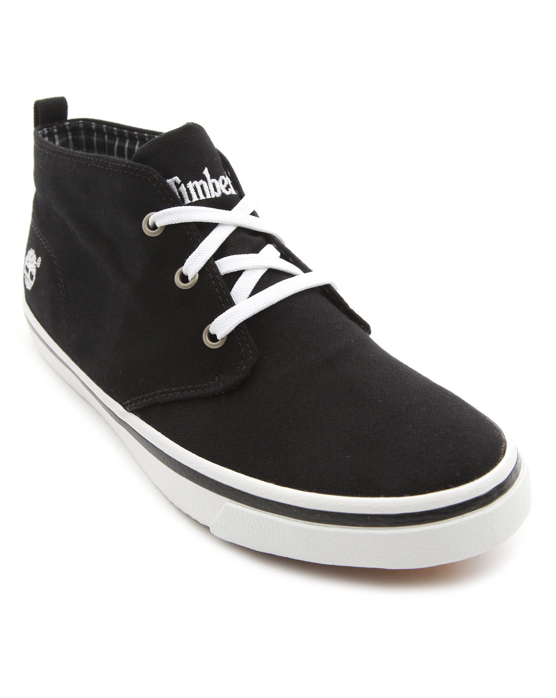 timberland black canvas chukka boots in black for lyst
