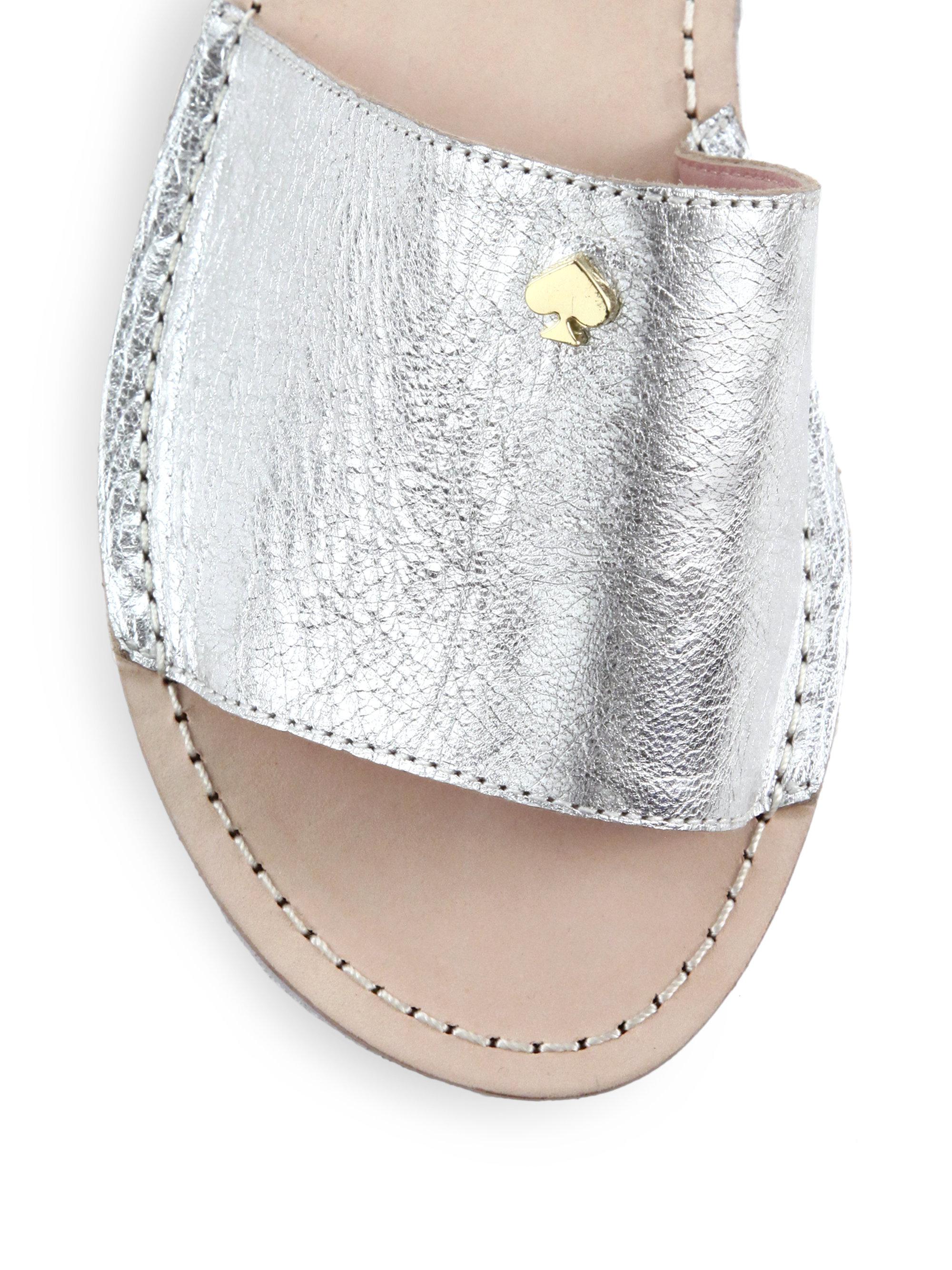 Kate Spade New York Imperiale Metallic Leather Slide