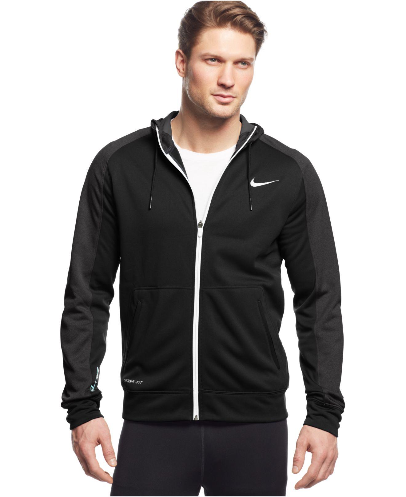a10692f74 Nike Elite Stripe Full-zip Therma-fit Hoodie in Black for Men - Lyst