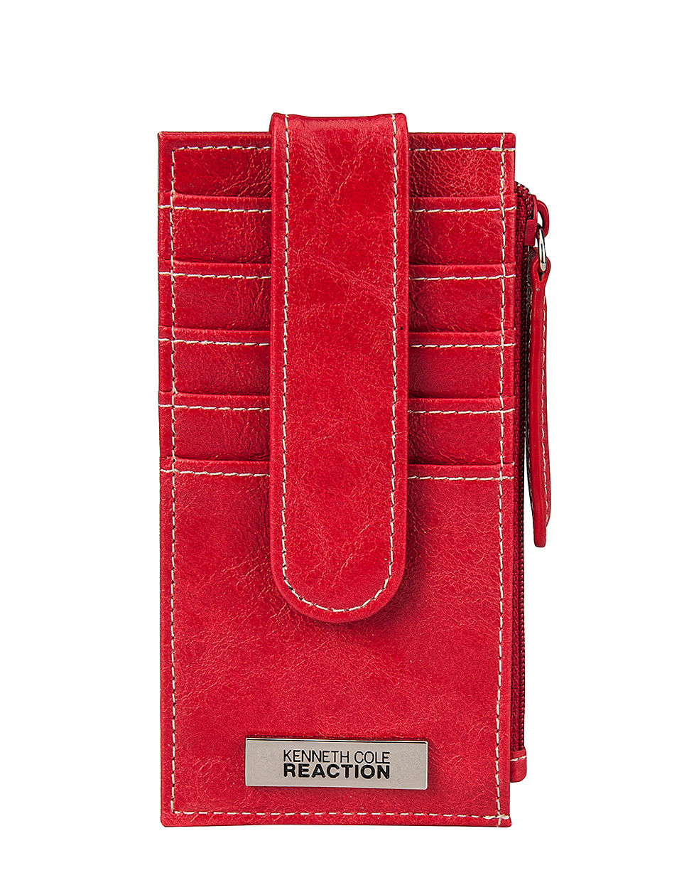 Kenneth cole reaction Snap Tab Credit Card Panel in Red for Men | Lyst