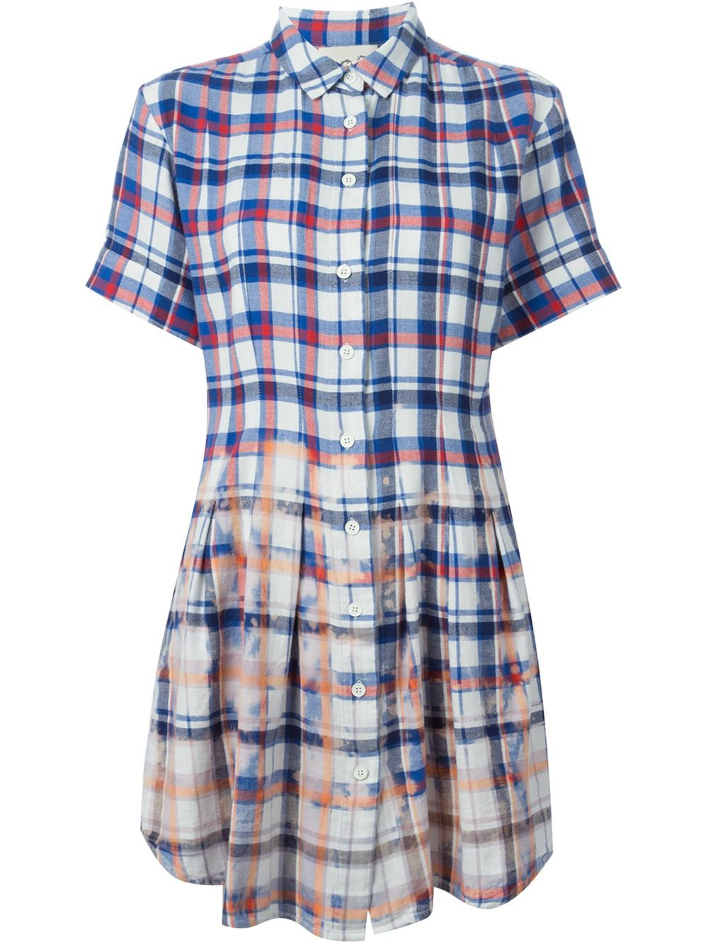 Sea Distressed Check Shirt Dress In Blue Lyst