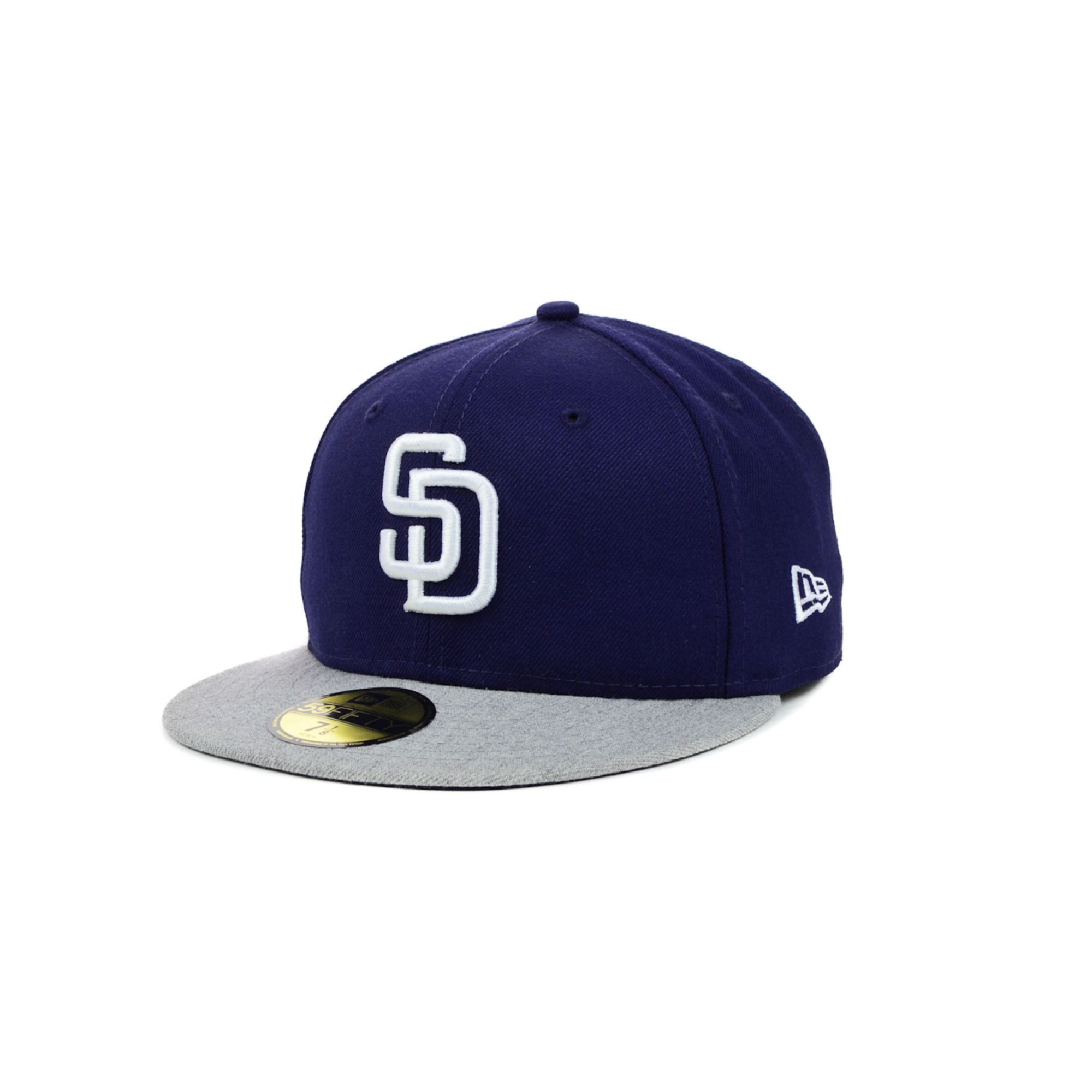 e521611ed57 ... reduced lyst ktz san diego padres mlb team heather 59fifty cap in blue  for men e8819
