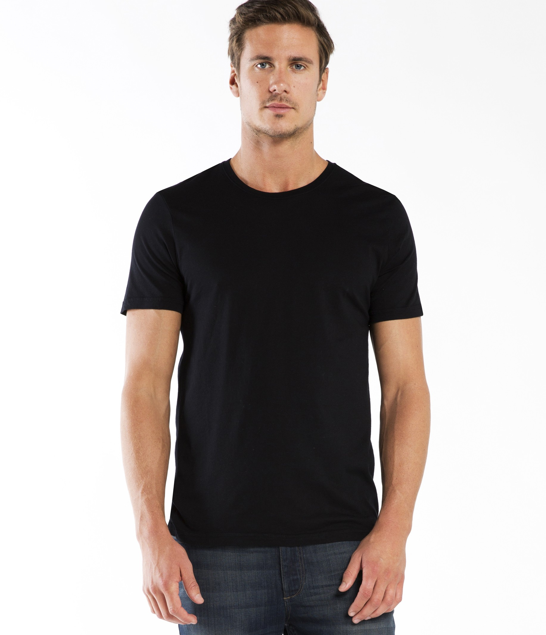 Michael stars black pacific short sleeve crew neck tee for Michael stars tee shirts