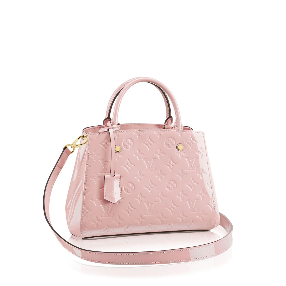 Louis vuitton montaigne bb in pink lyst for Louis vuitton miroir bags