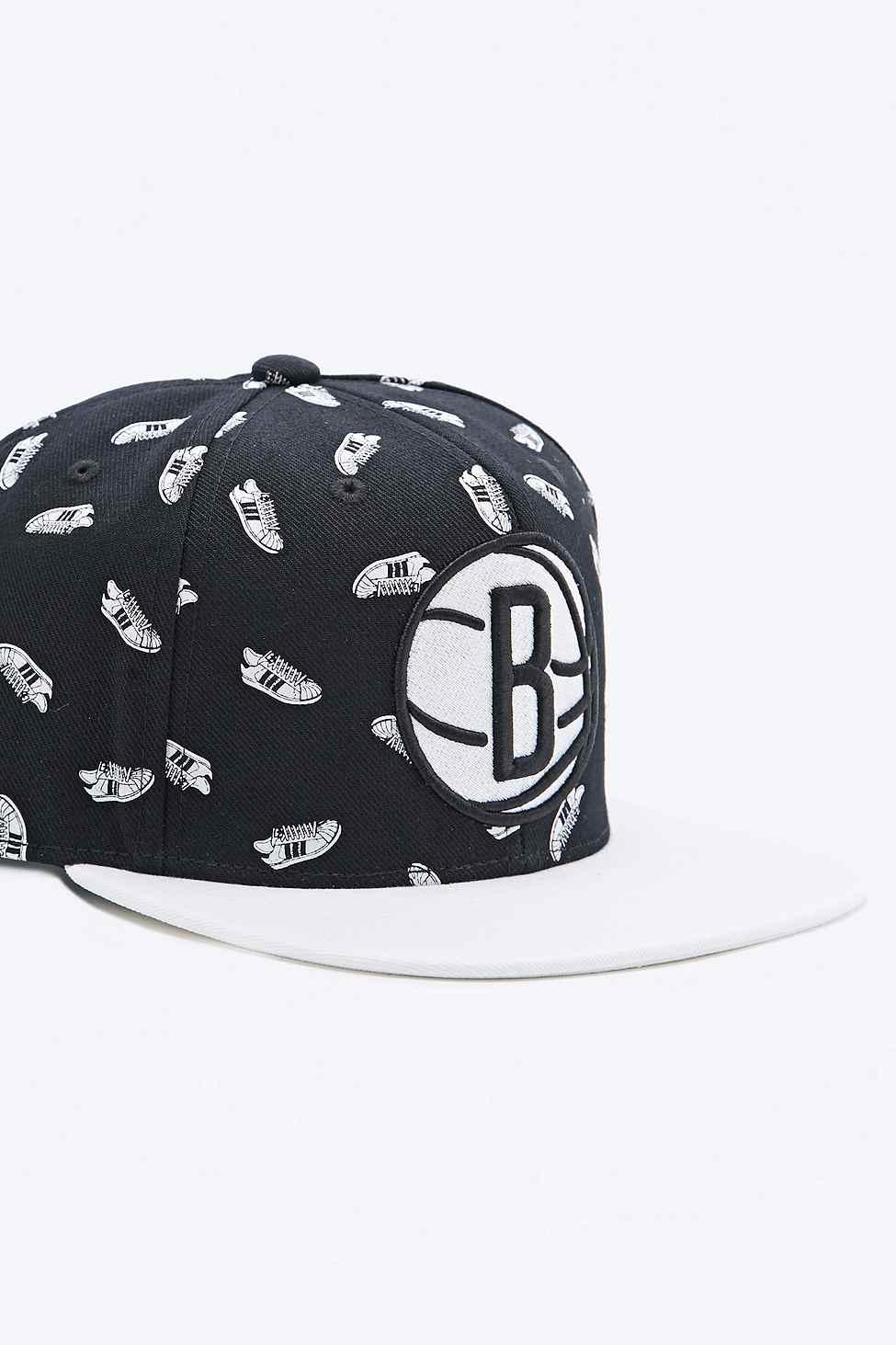 a1591da77010b adidas Superstar Nba Brooklyn Nets Snapback Cap in Black for Men - Lyst