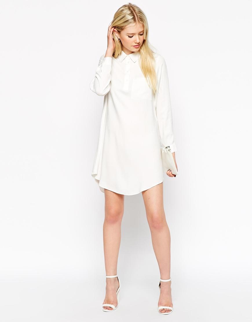 Long Sleeve Shirt Dress With Belt Bcd Tofu House