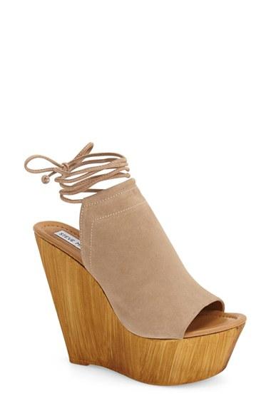 a4367fde880 Lyst - Steve Madden  bonelli  Platform Wedge Sandal in Natural