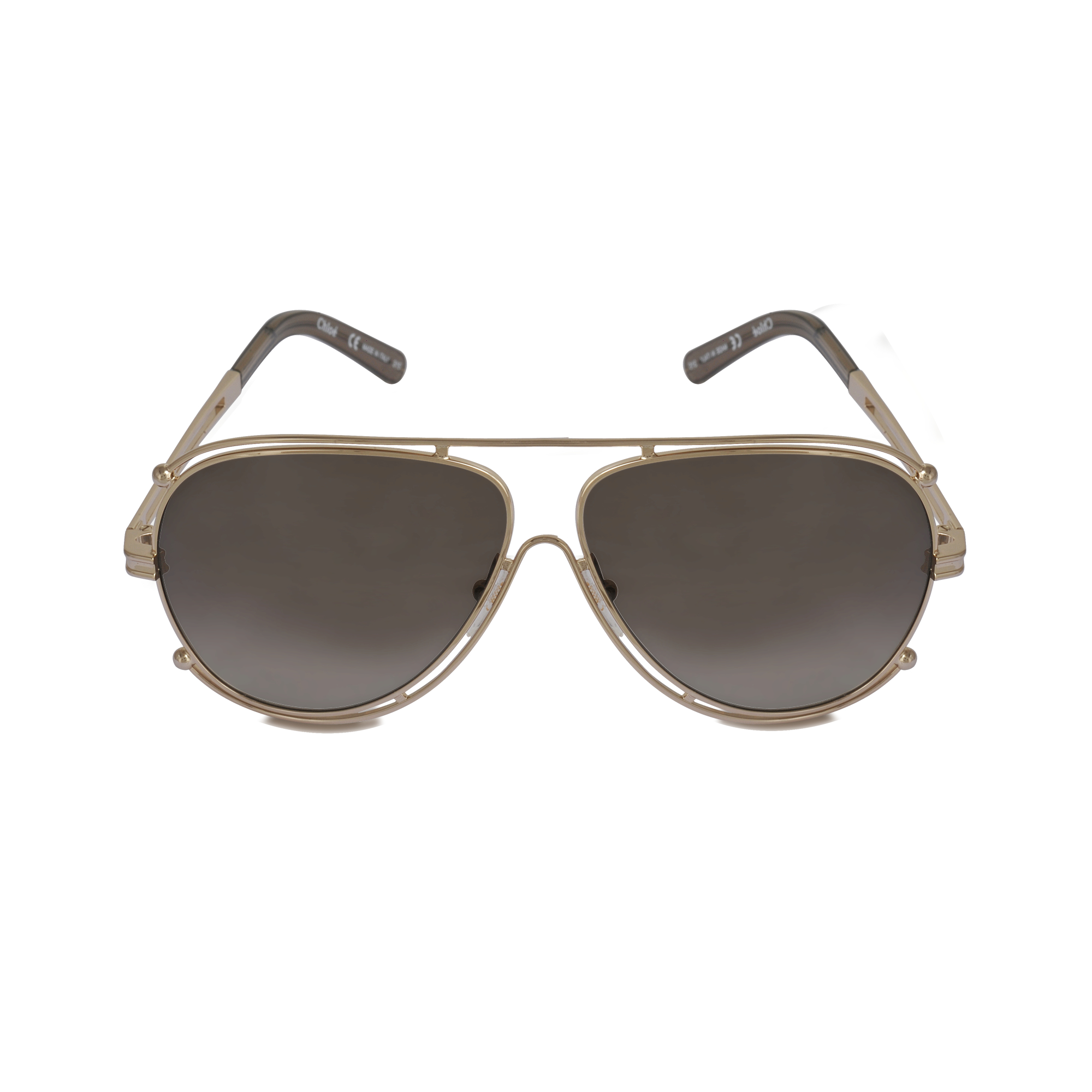 Chloe Gold Frame Sunglasses : Chloe Ce121s Isidora Sunglasses in Gold Lyst