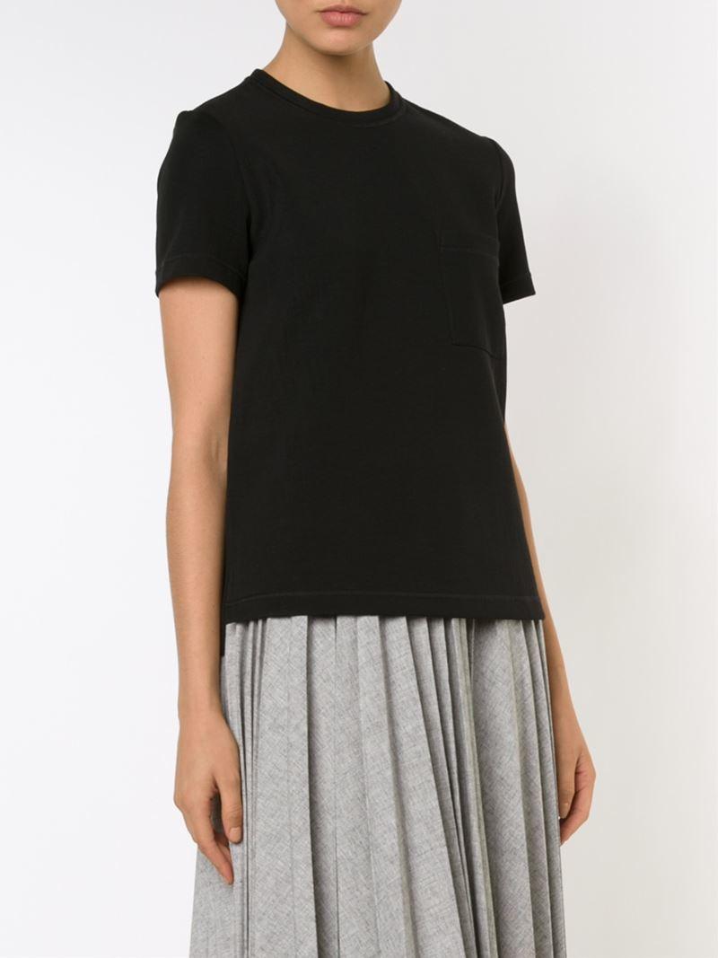 lyst proenza schouler classic t shirt in black