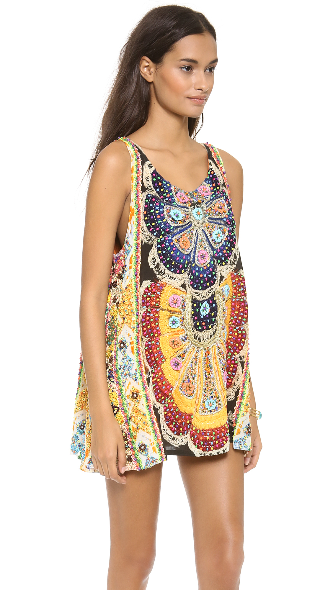 Lyst Camilla Round Neck Mini Dress Weaving Time