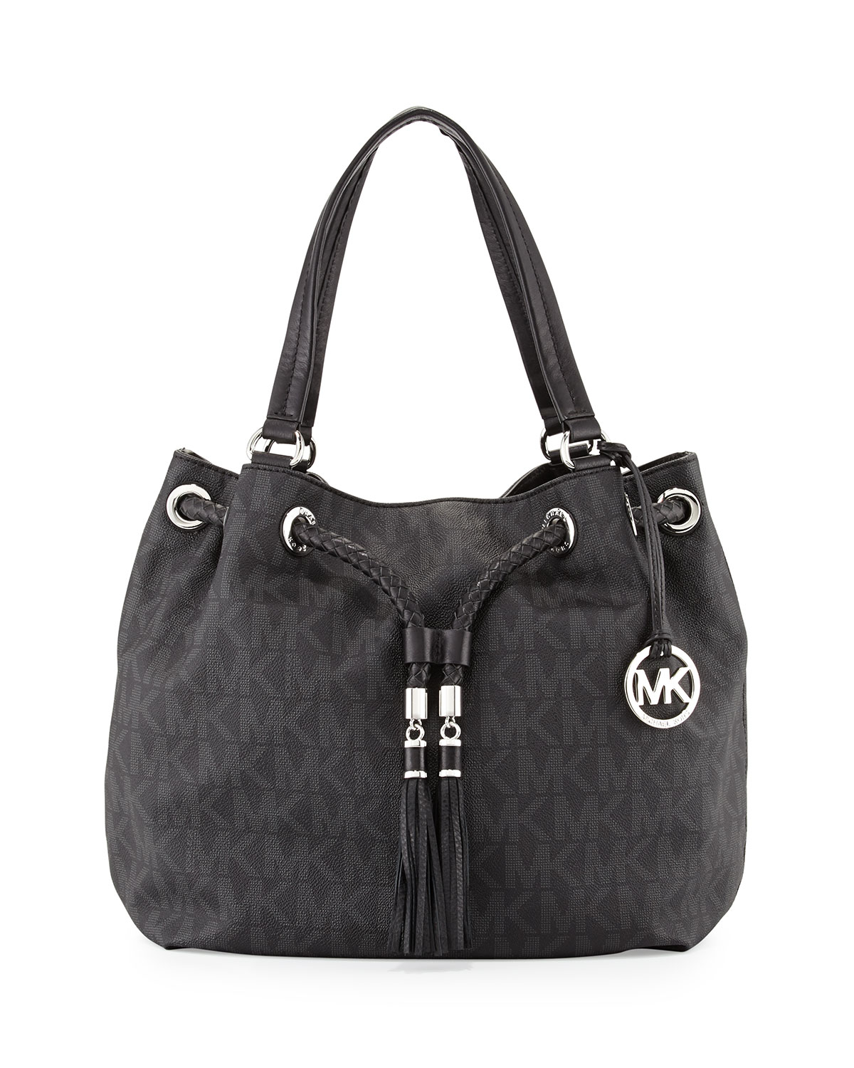 ca46d342ac17 MICHAEL Michael Kors Jet Set Large Gathered Tote Bag in Black - Lyst