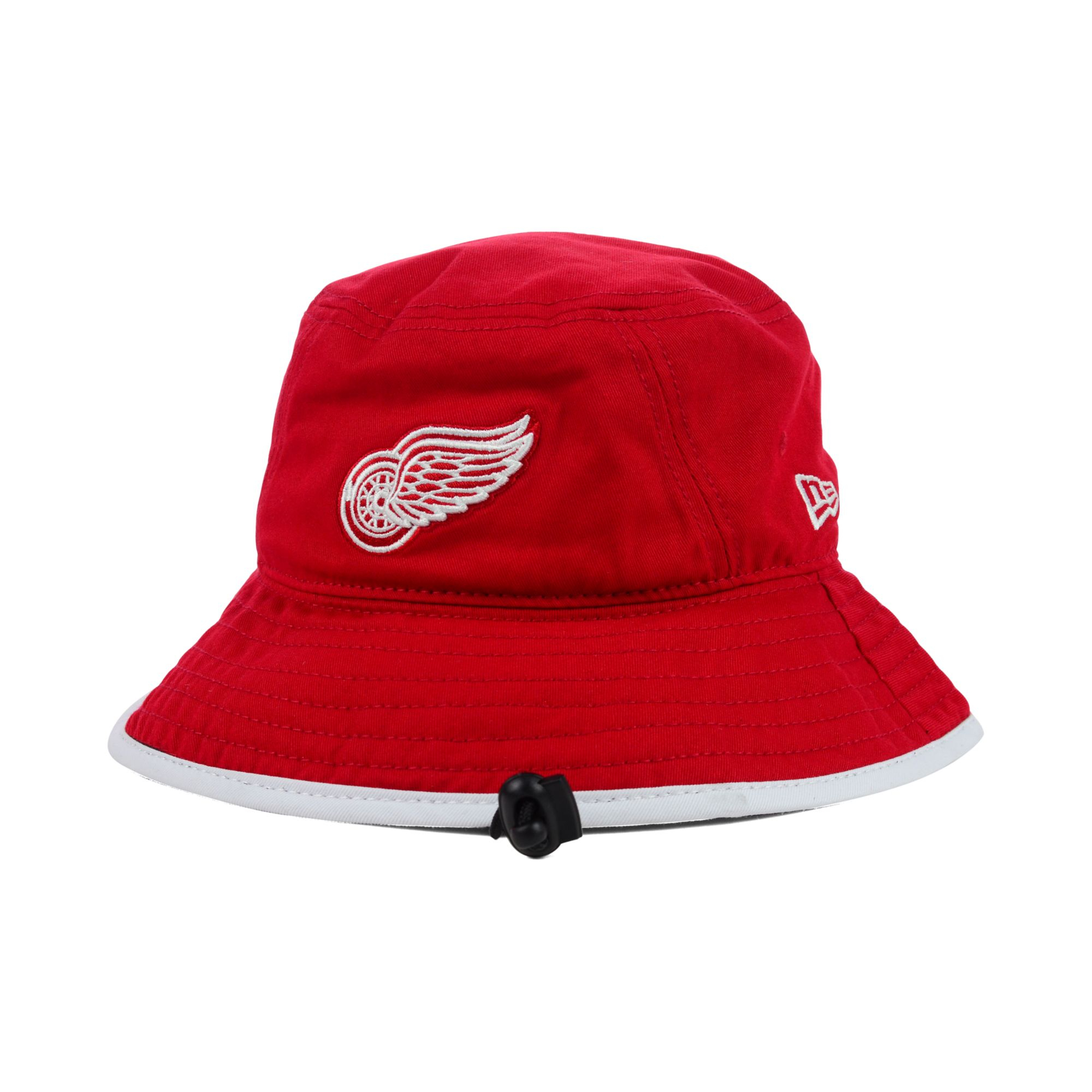 best service f059d cab0d ... closeout lyst ktz detroit red wings basic tipped bucket hat in red for  men bfdf8 c9c1f