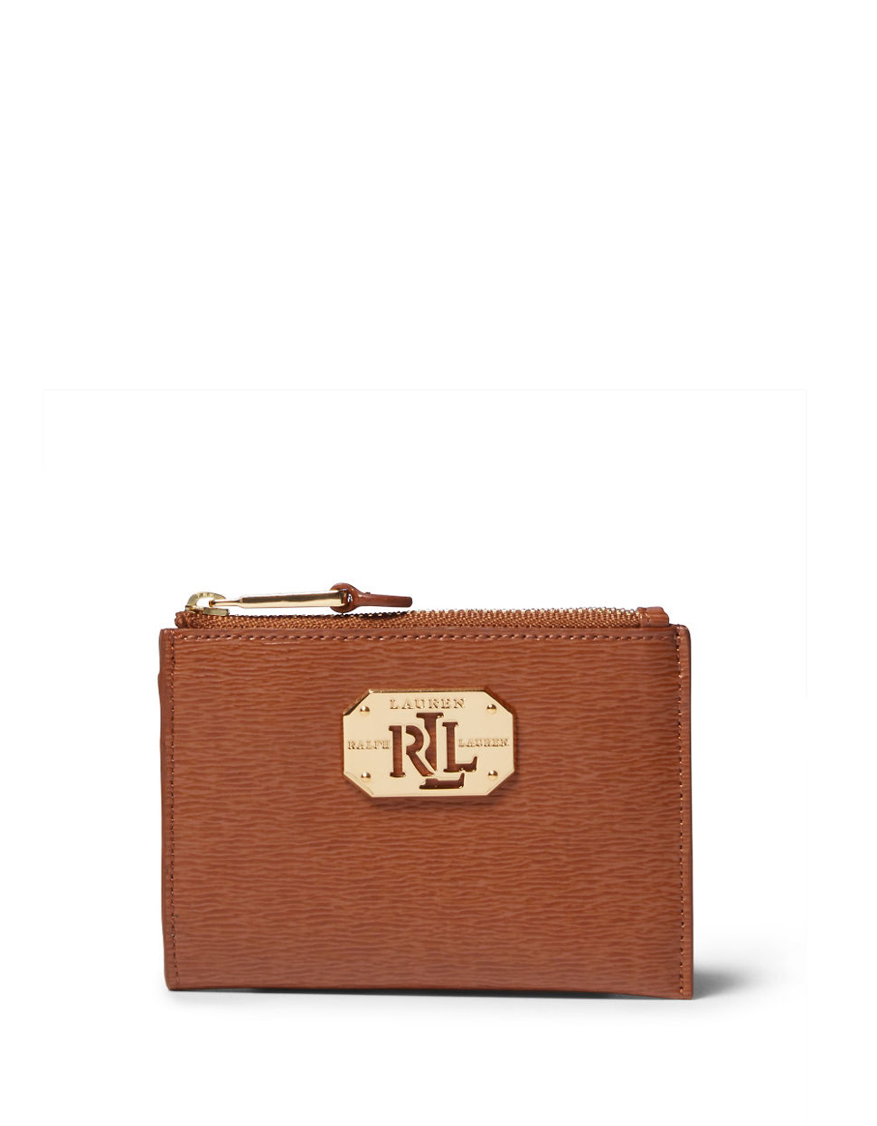 Lyst - Lauren By Ralph Lauren Newbury Leather Coin Pouch in Natural fb2113ab5f