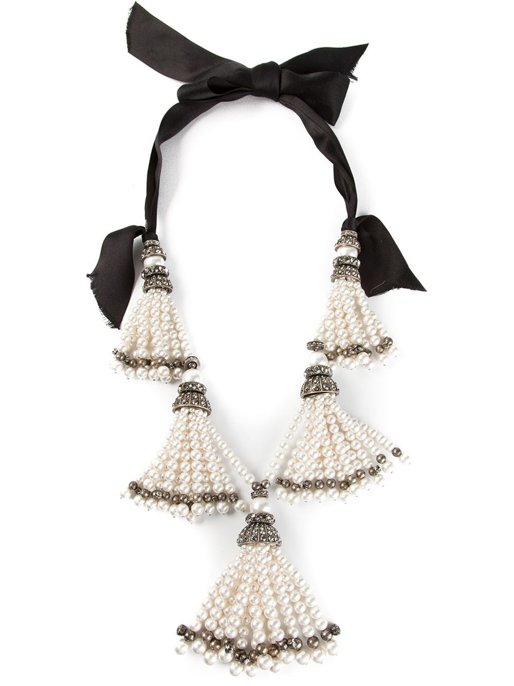 Lanvin Pearls Necklace White 6a9TDj0r