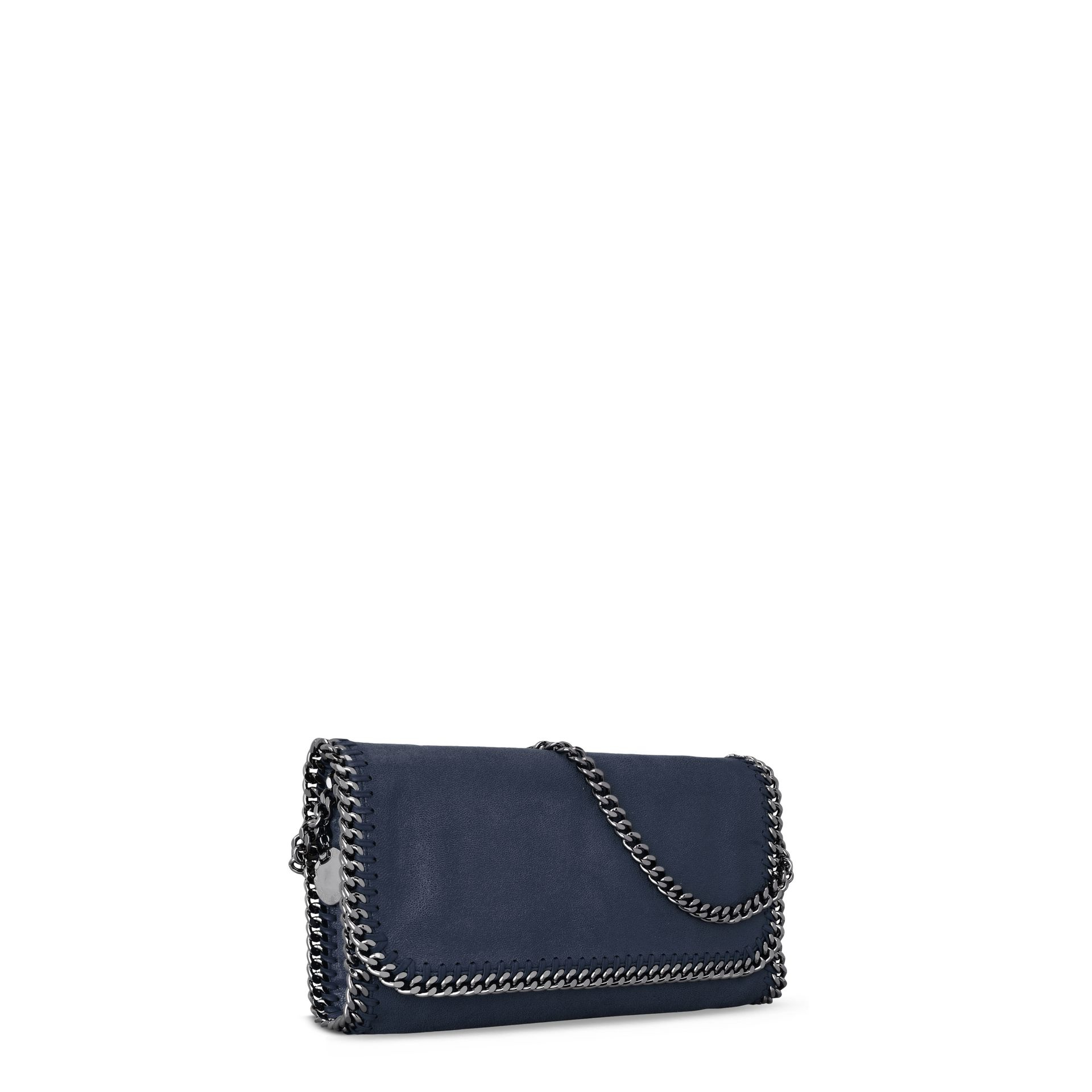 8d57840394 Lyst - Stella McCartney Navy Falabella Shaggy Deer Shoulder Bag in Blue