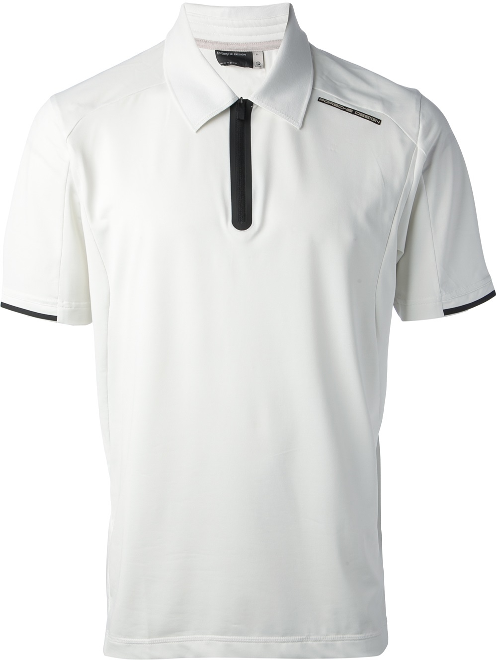 ebe91e4ef Porsche Design Branded Jersey Polo Shirt in White for Men - Lyst