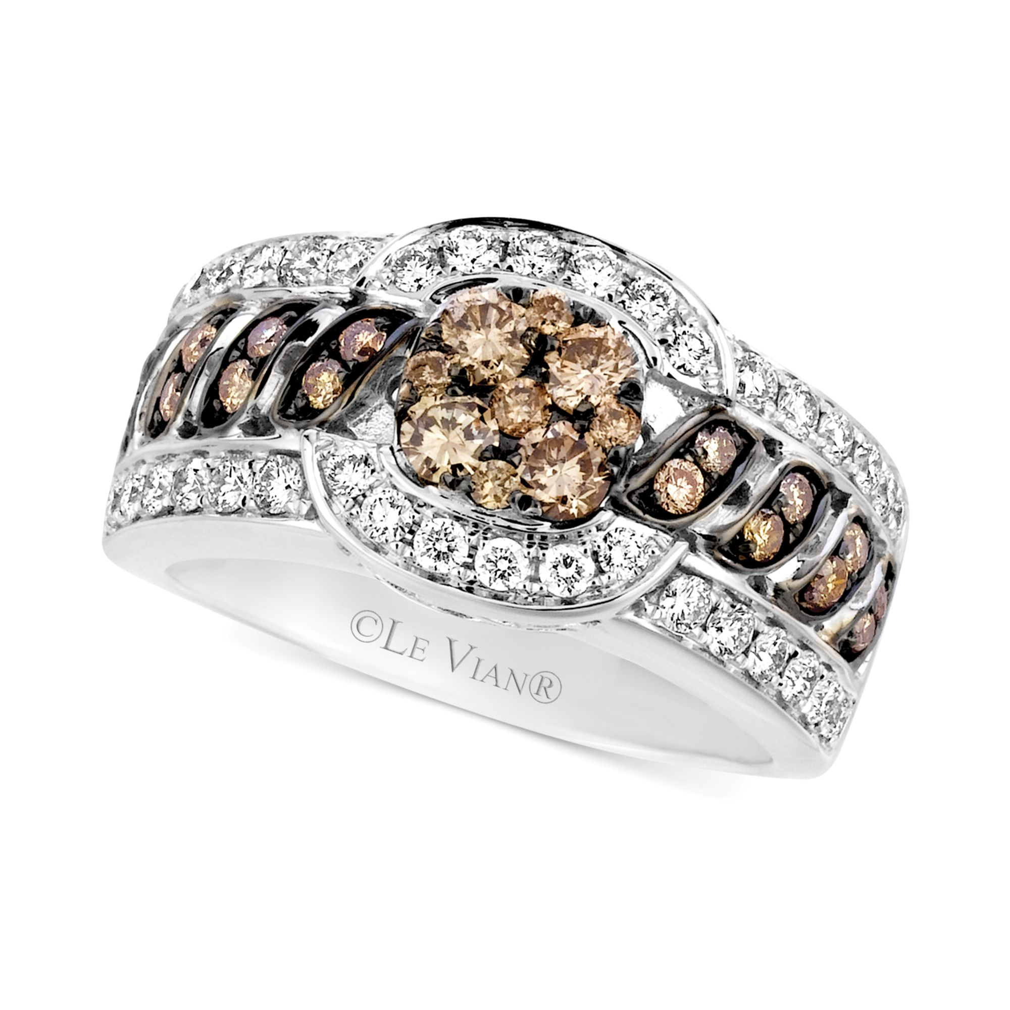 gold in le rose sets rings vian diamond tw set ct k caymancode and white chocolate engagement ring