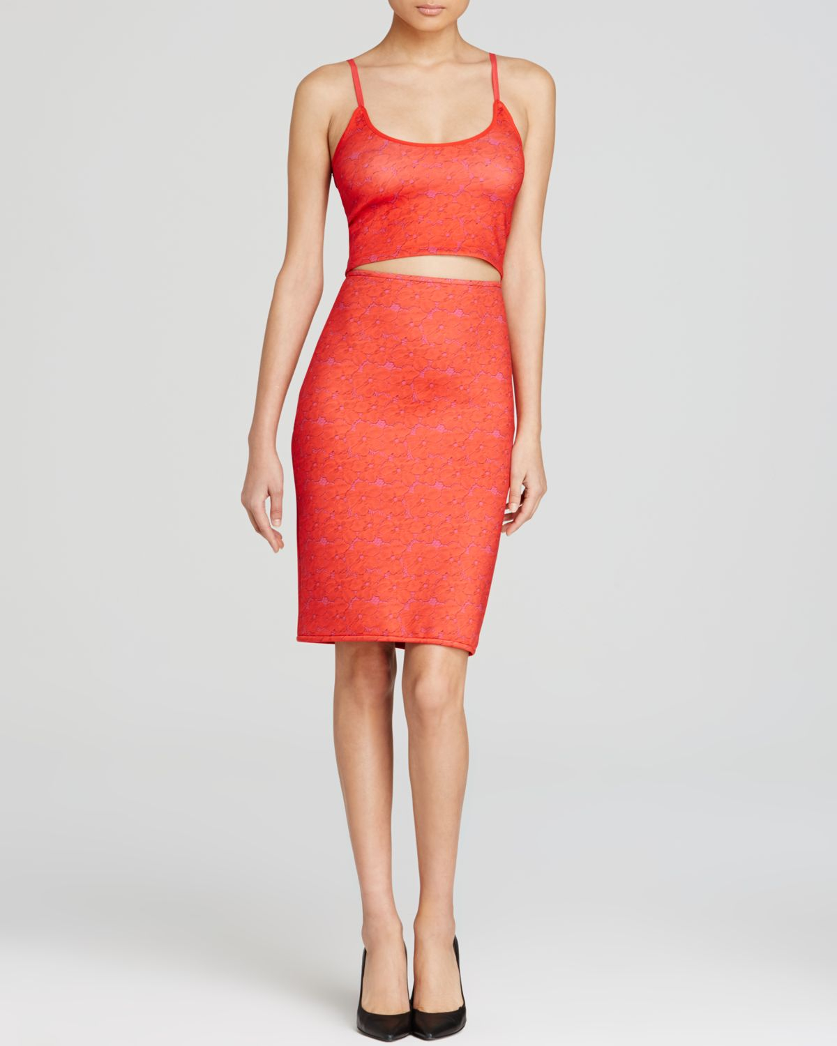 Cynthia rowley Crop Top - Red Lace in Red (Red Lace) | Lyst