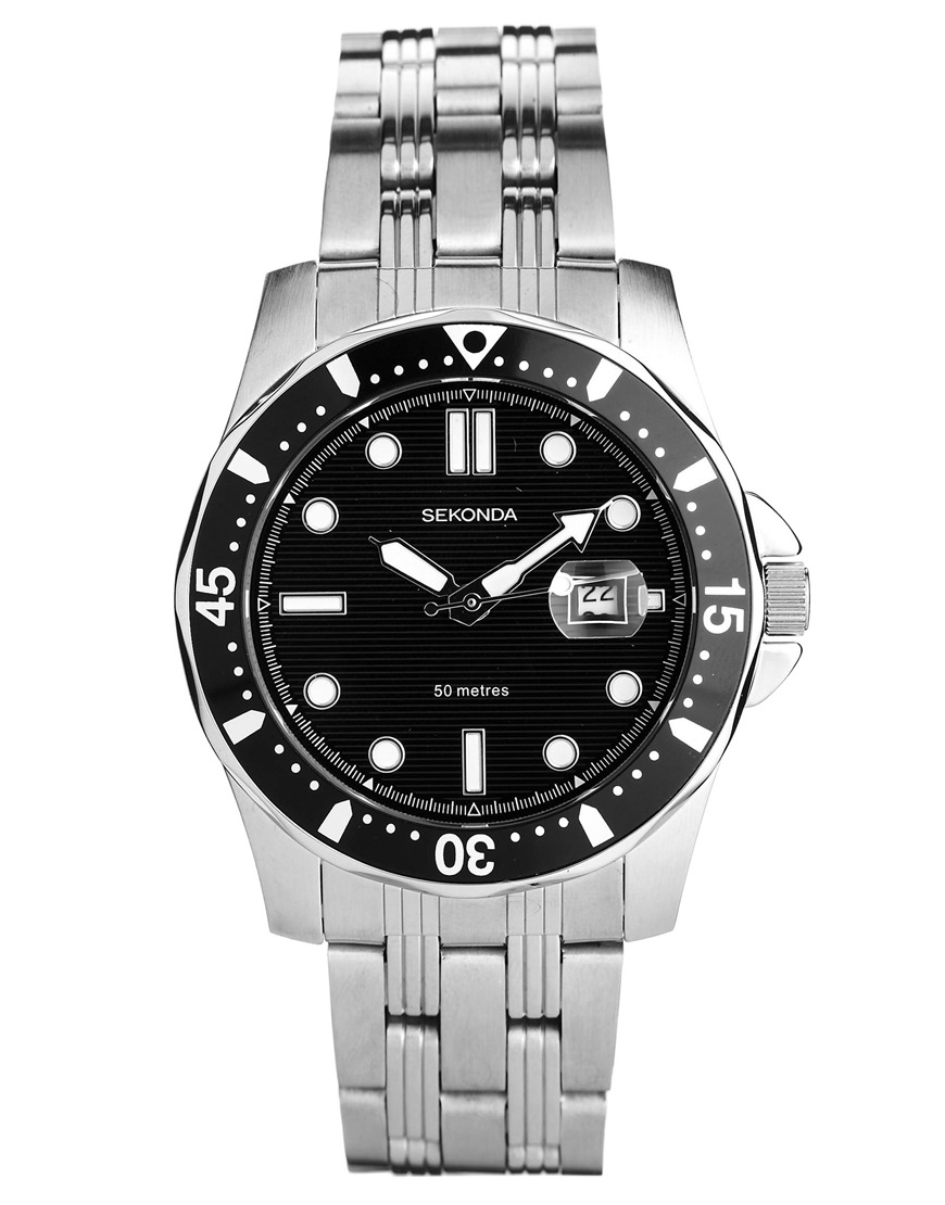 Sekonda silver bracelet strap watch in metallic for men lyst for Sekonda watches