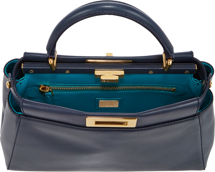e34a756450 ... reduced fendi peekaboo bag in blue lyst 26193 ed958