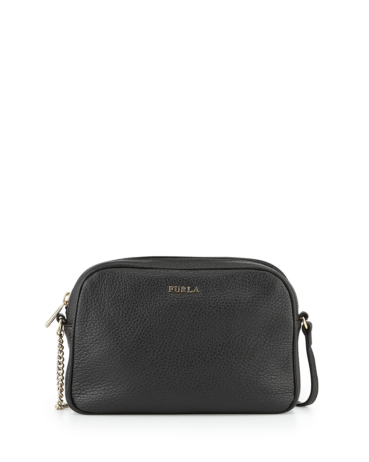 f37d07764a3a Furla Miky Small Leather Crossbody Bag in Black - Lyst