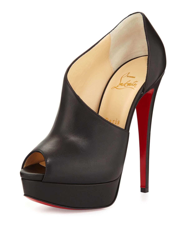 Christian Louboutin Verita Asymmetric Shoe Boots In Black