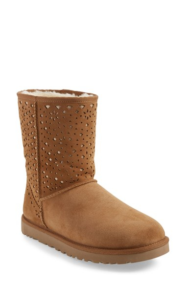 ugg flora boots in brown lyst