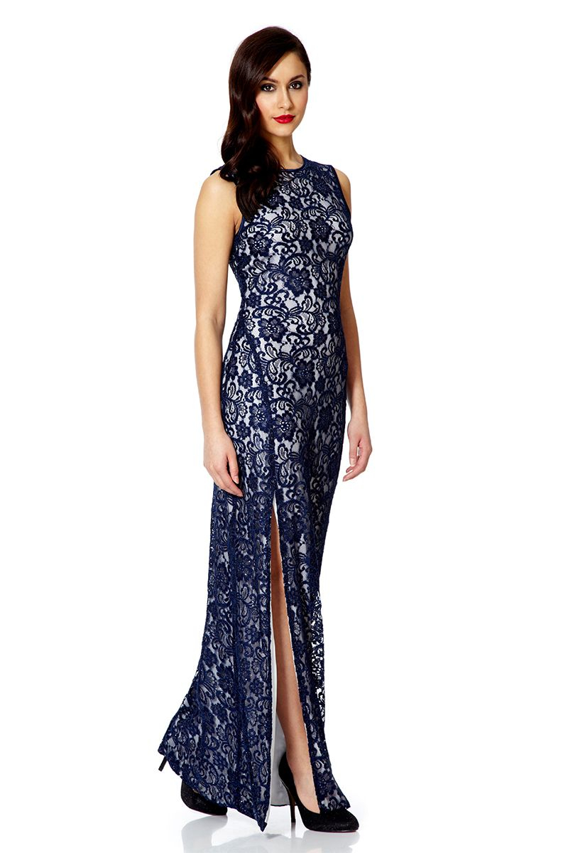 Dress lace dress long dress black dress sequins lace blue dress - Gallery Previously Sold At House Of Fraser Women S Navy Dresses Women S Diane Von Furstenberg New Jeanne Women S Lace Top Maxi