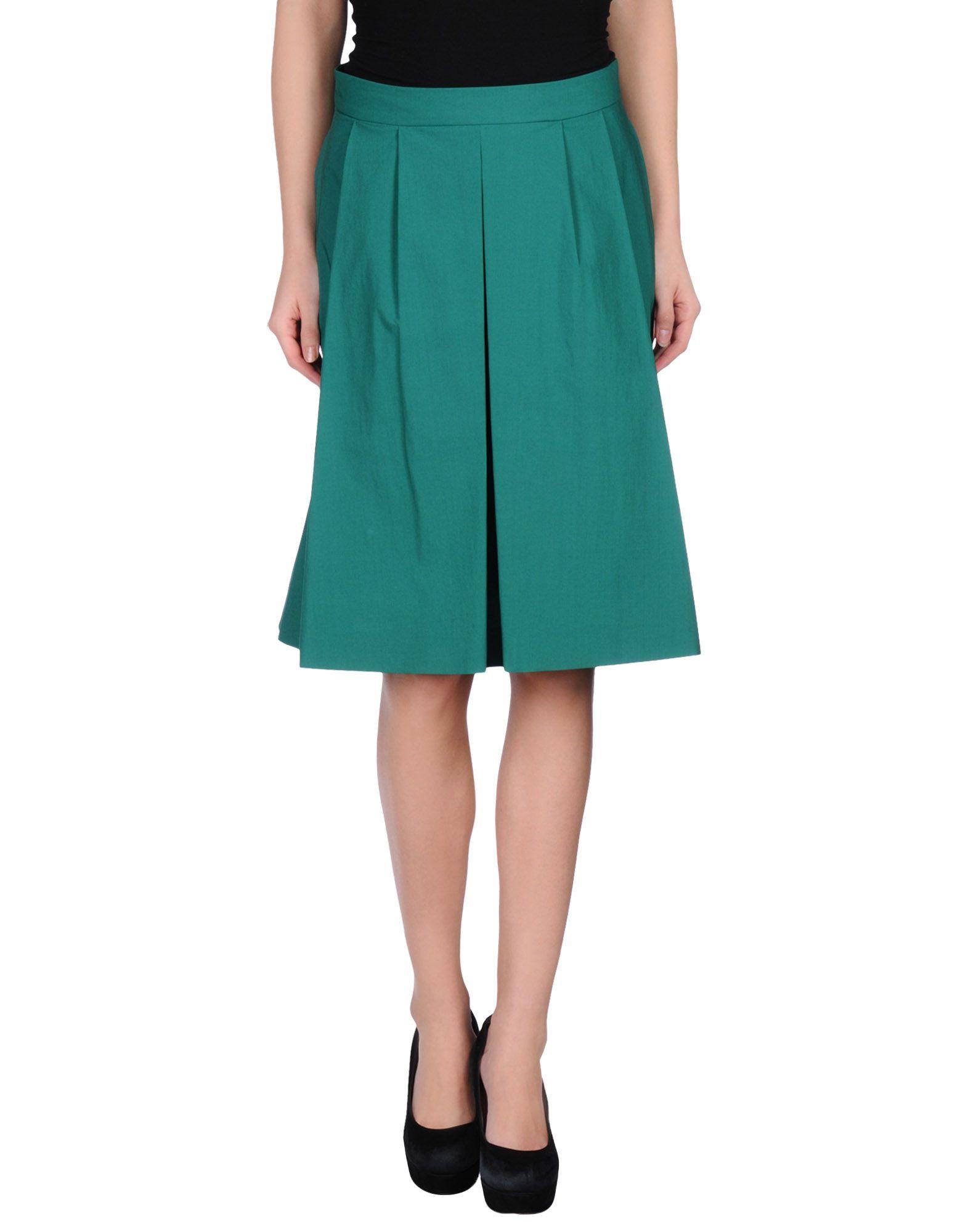 blue les copains knee length skirt in green lyst