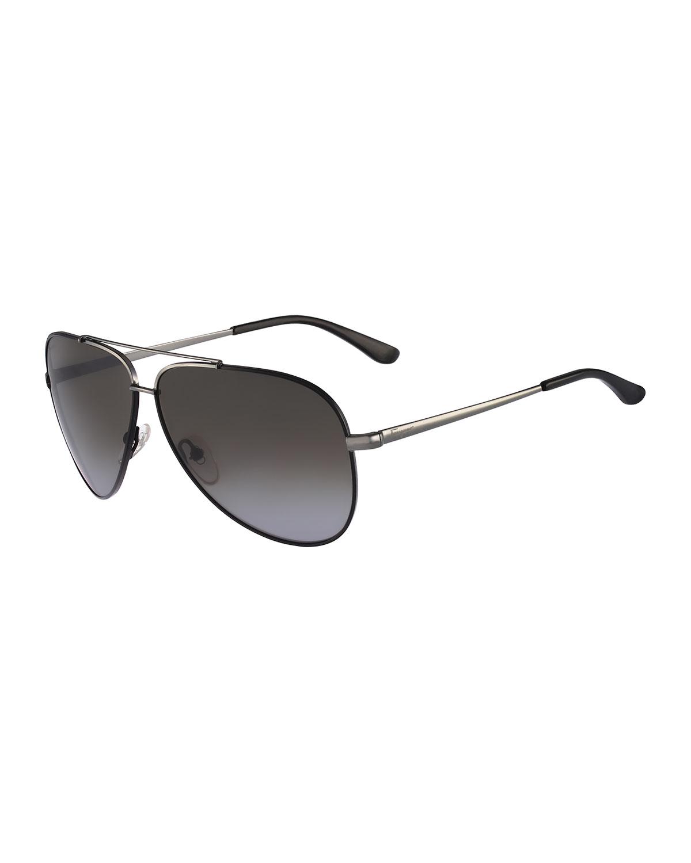f6ba5140279 Asos Gunmetal Aviator Sunglasses