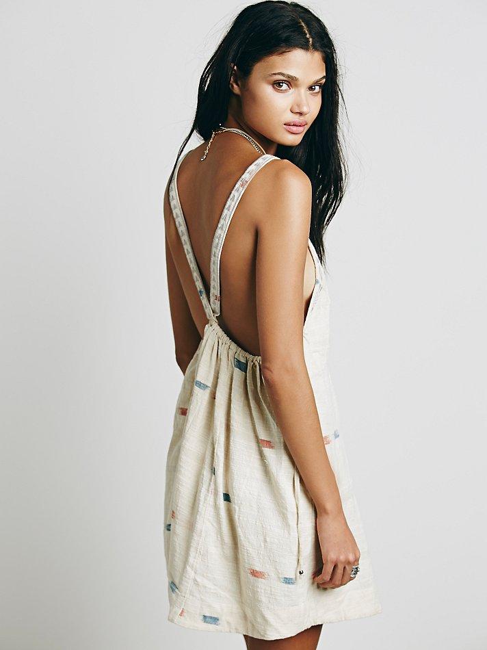 Lyst - Free People Womens Arizona Mini Dress in Natural 13a94c7f8