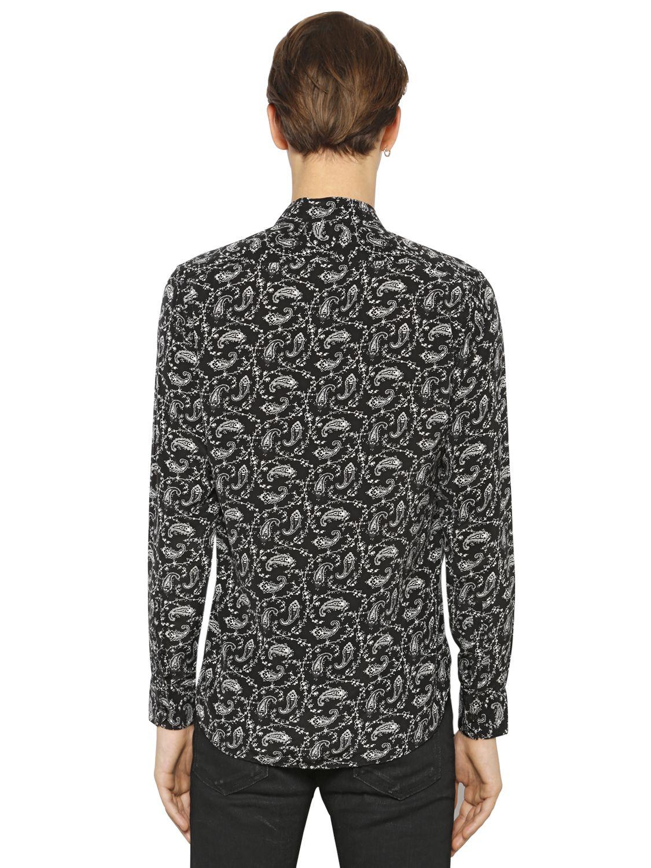 Silk Paisley Shirt Saint Laurent Cheap 100% Authentic With Credit Card e9CiH