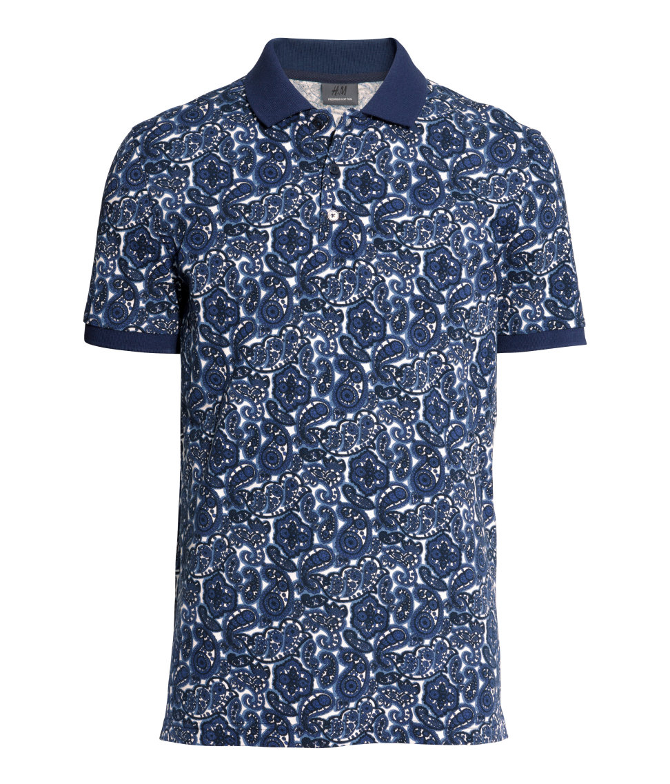 Lyst h m polo shirt for men for H m polo shirt mens
