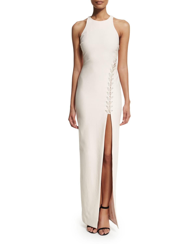 ae12a73e4da2 Elizabeth and James Amya Sleeveless High-slit Maxi Dress in White - Lyst