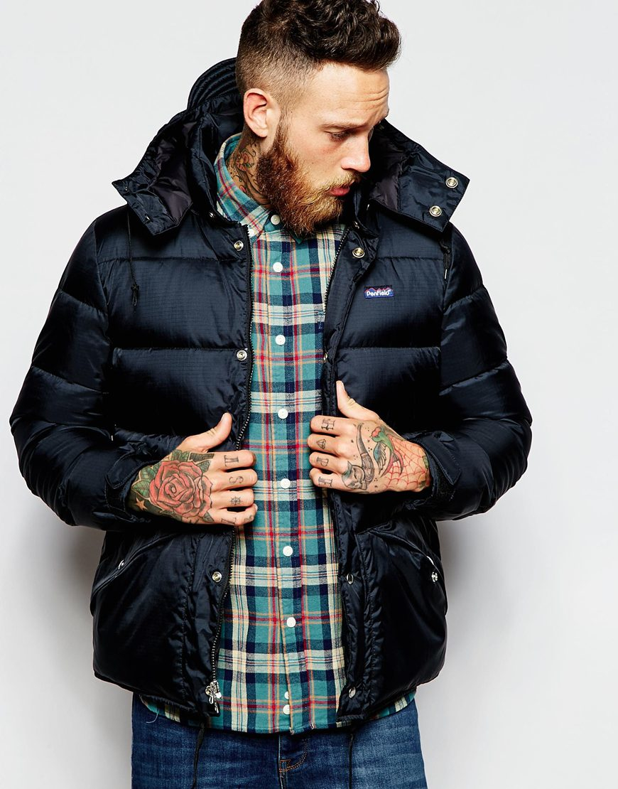 Penfield Shower Proof Bowerbridge Down Insulated Jacket in Black ...