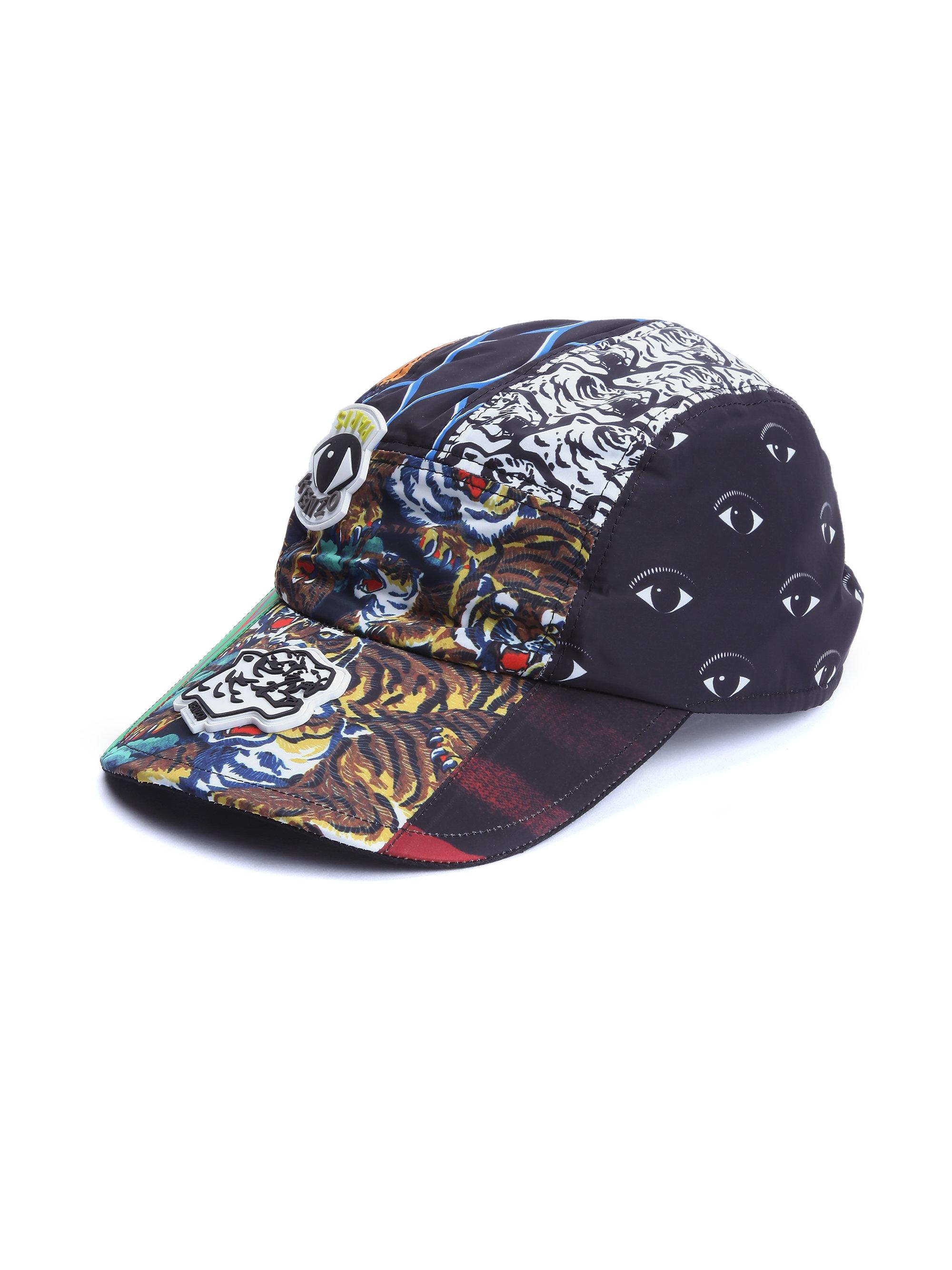 Lyst - KENZO Printed Baseball Cap in Black for Men ea6337c5ba7