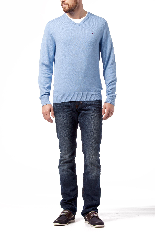 tommy hilfiger cotton cashmere v neck sweater in blue for. Black Bedroom Furniture Sets. Home Design Ideas