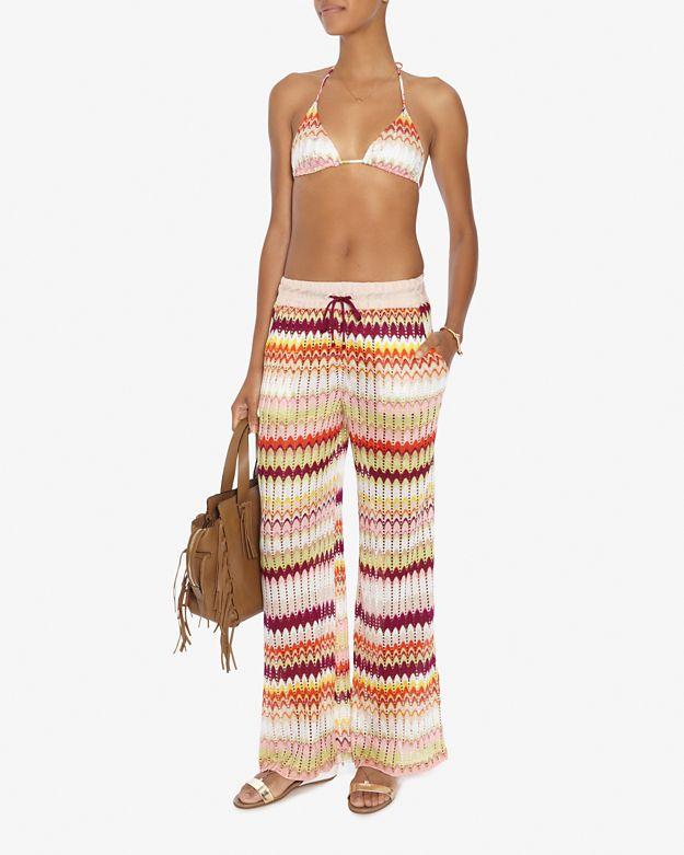 Lyst Missoni Perforated Pattern Knit Triangle Bikini Final Sale