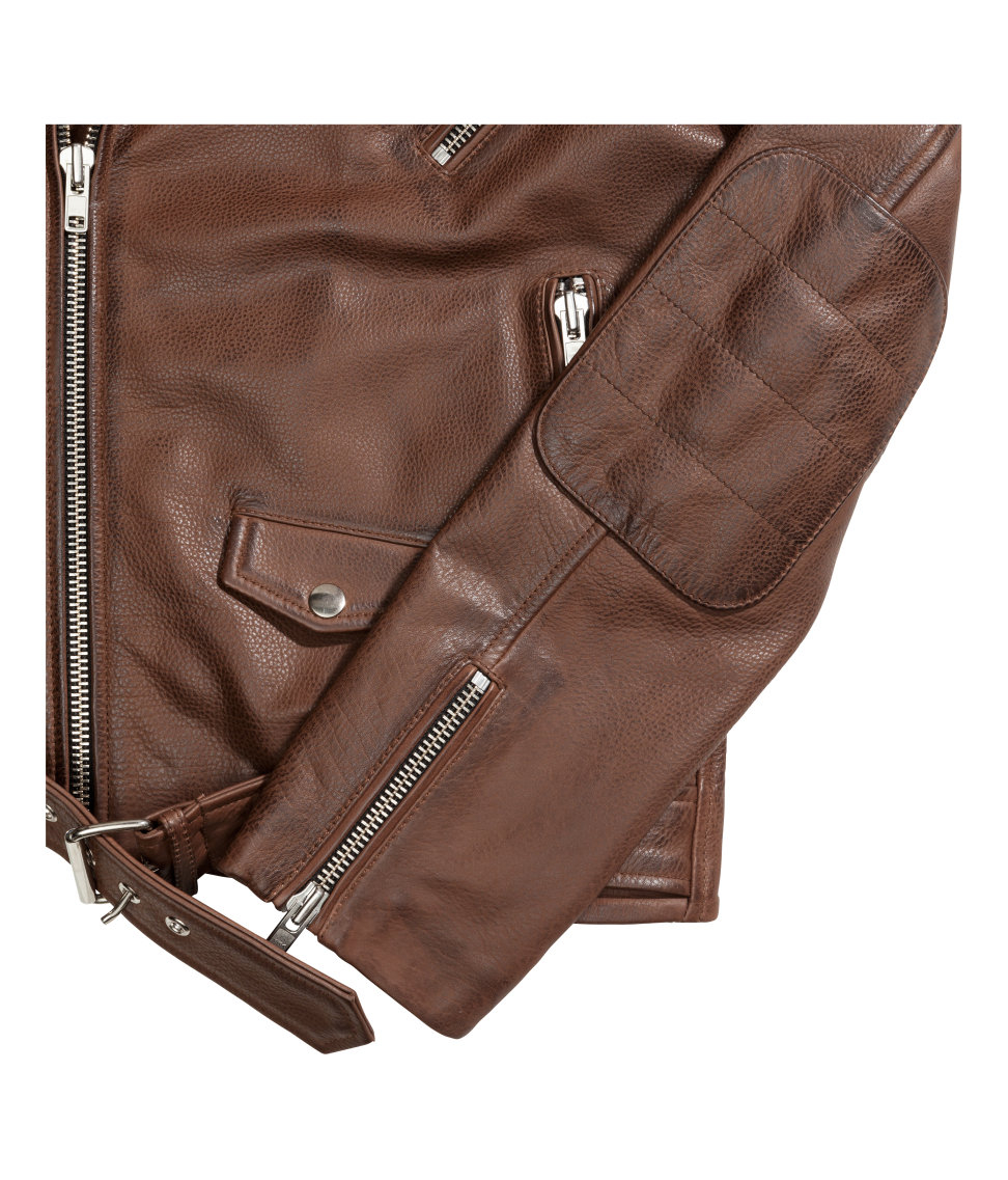 H and m leather jacket men