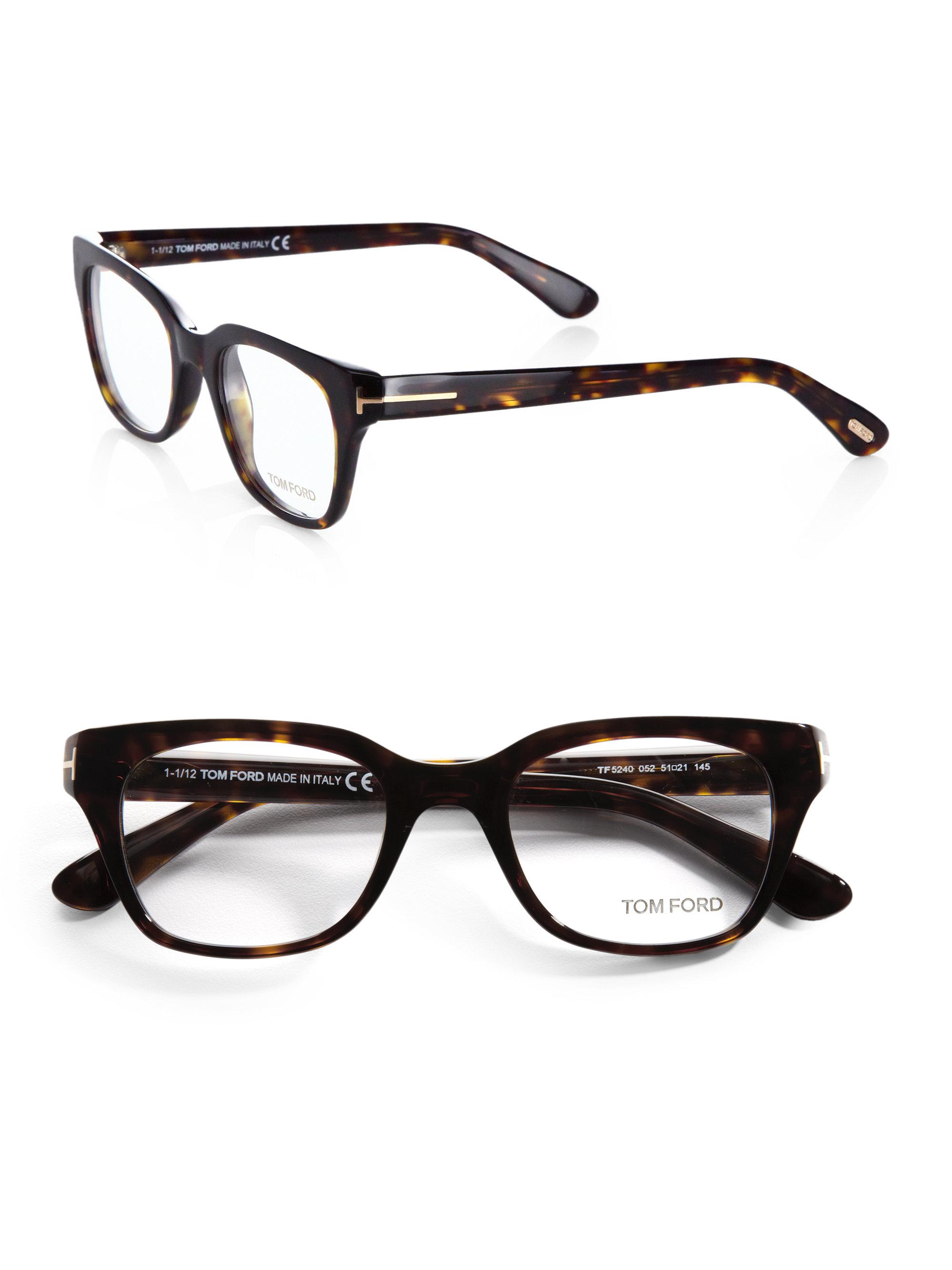 Tom Ford 5240 Square Optical Frames In Brown For Men Lyst