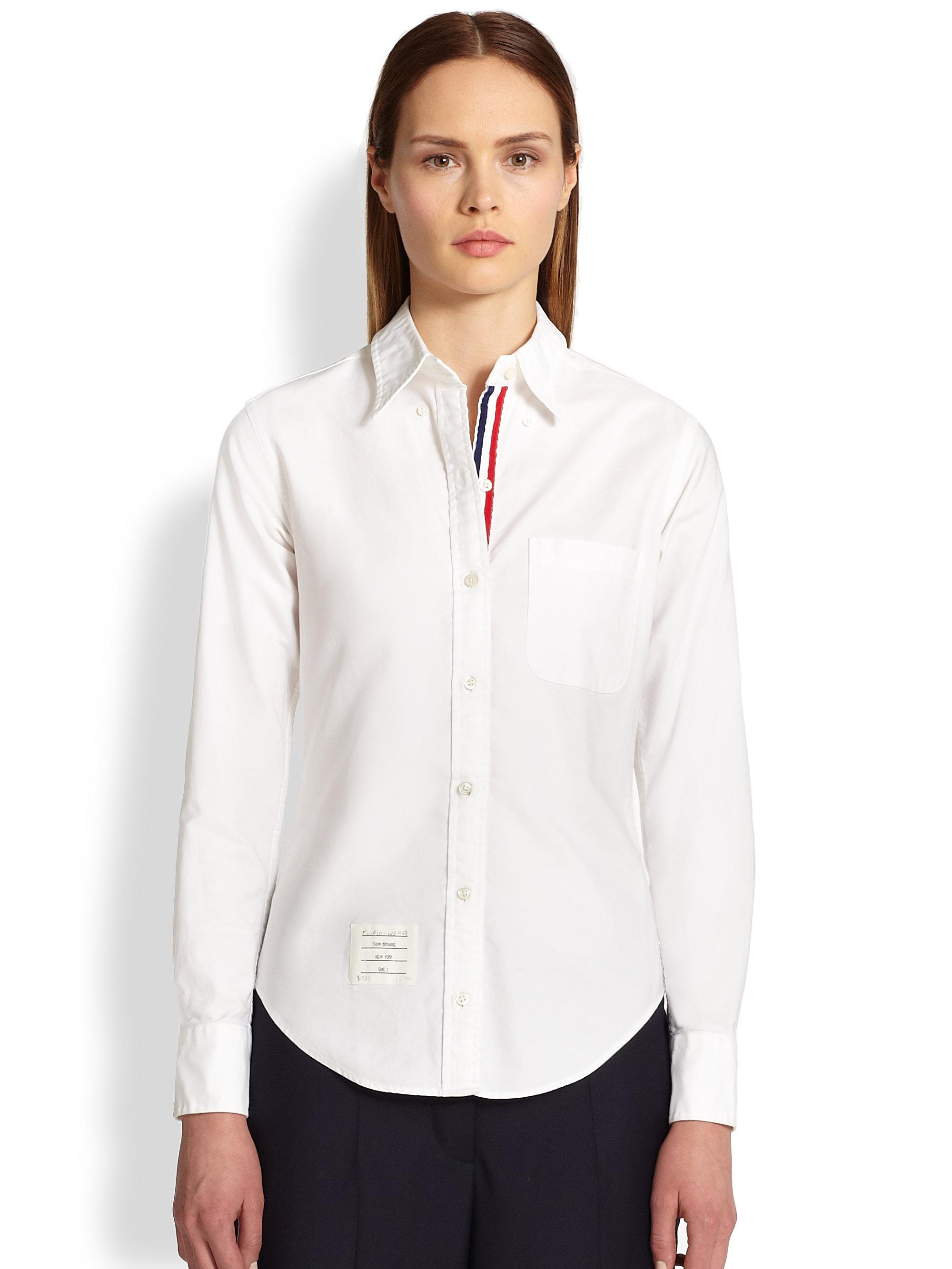 f64fbb7123b2 Lyst - Thom Browne Classic Poplin Shirt in White