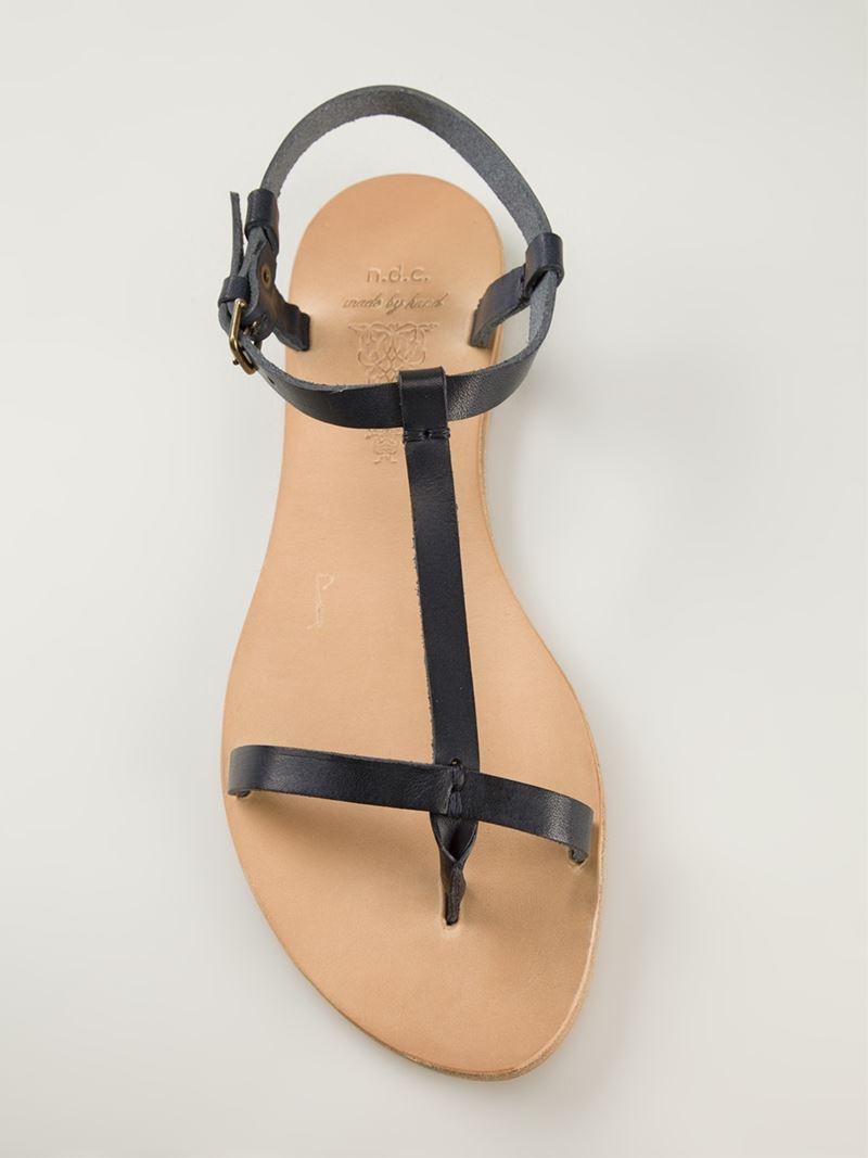 Ndc T Bar Sandals In Black Lyst