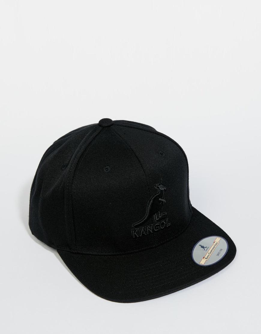 Lyst - Kangol Champ Links Snapback Cap in Black for Men fea8241d5568