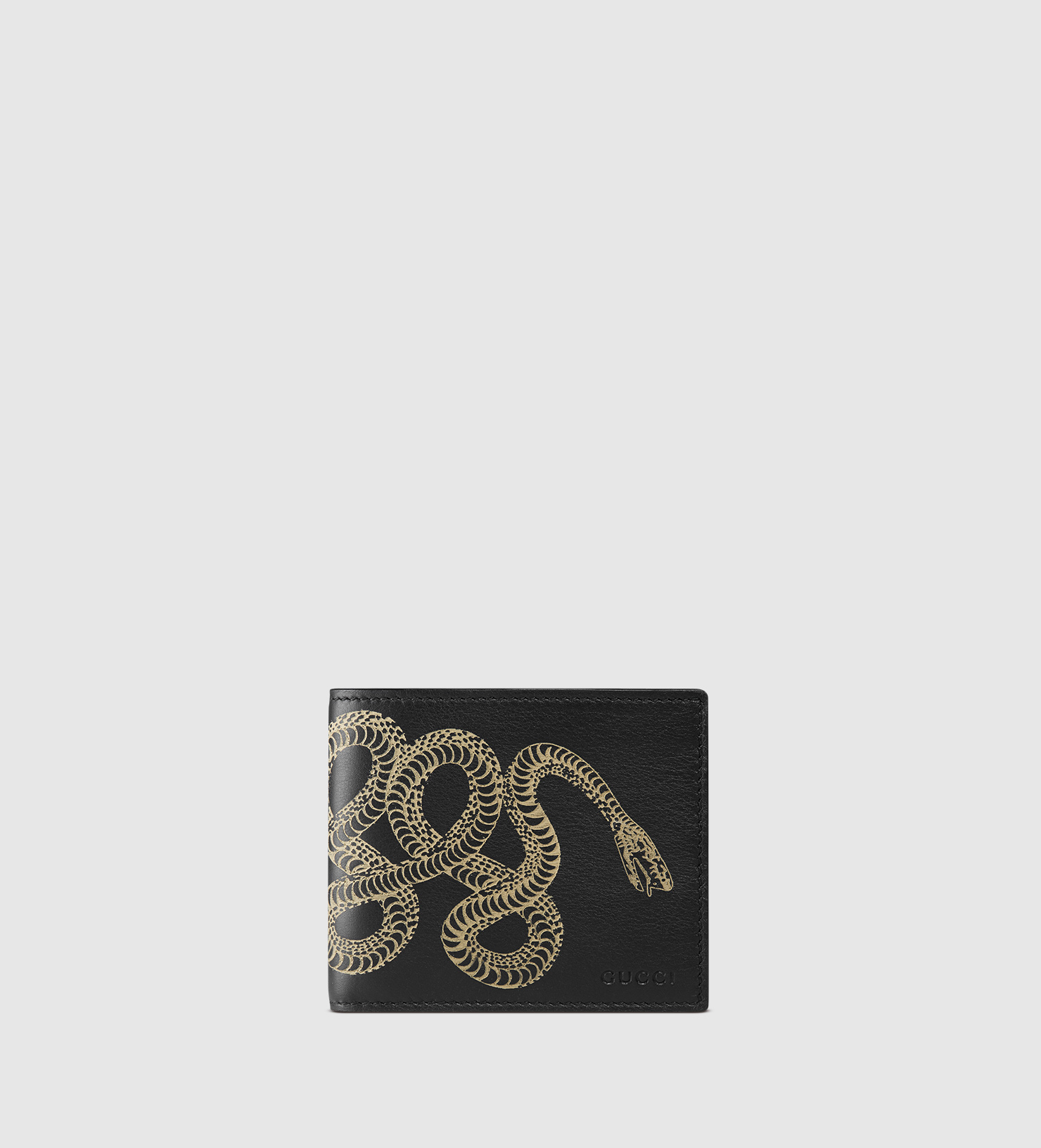 Lyst Gucci Snake Leather Wallet For Men