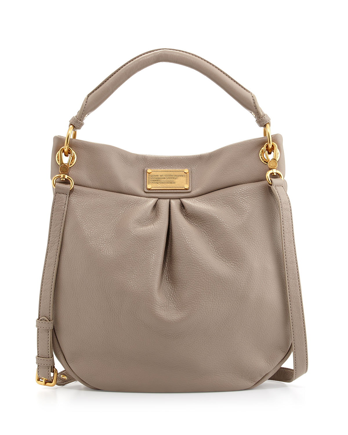 0997f365647 Marc By Marc Jacobs Classic Q Hillier Hobo Bag Cement in Gray - Lyst