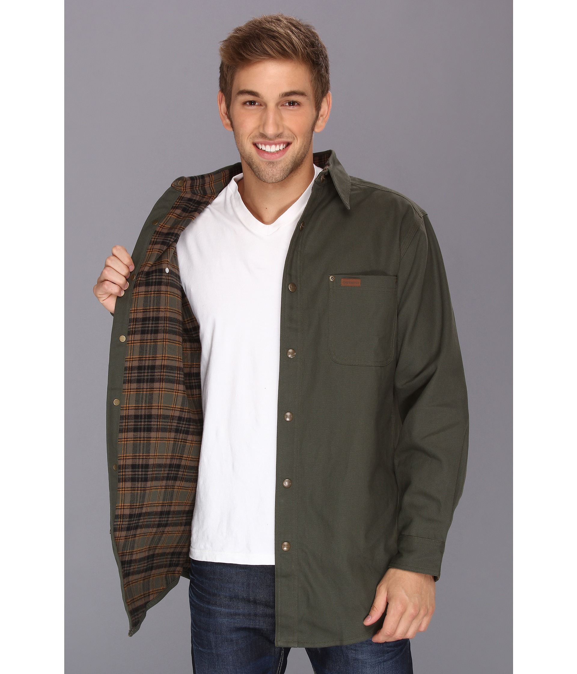 Carhartt Classic Canvas Shirt Jacket Tall in Green for Men | Lyst