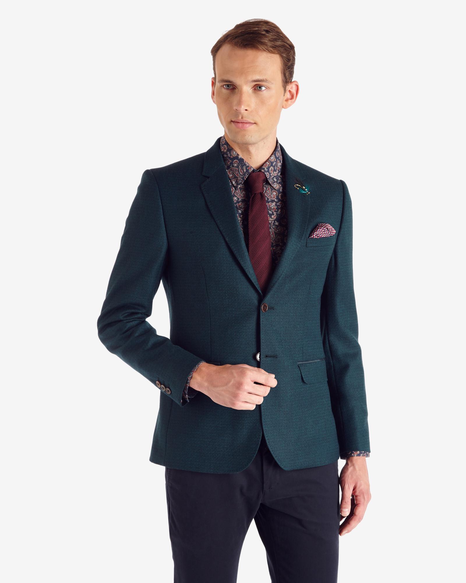27b947e09 Lyst - Ted Baker Tight Lines Wool Blazer in Blue for Men